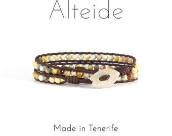 Bracelet Las Teresitas 2 waves - Alteide - made in Tenerife - surf inspired - man woman - Laze Agate
