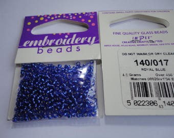 seed fine embroidery (017) 2mm Royal Blue