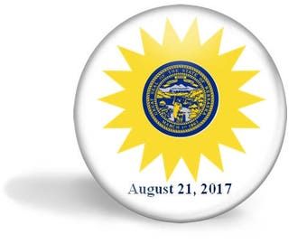 Nebraska Eclipse Magnet, Eclipse Party Pin, Nebraska Eclipse Pin, Total Solar Eclipse, 2017 Eclipse, Eclipse Party Favor