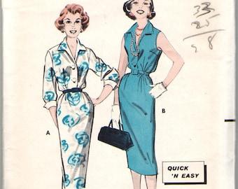 Butterick 8501  1950's Era Misses' Shirtdress