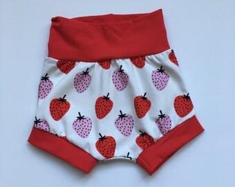 Harem Shorts - strawberries