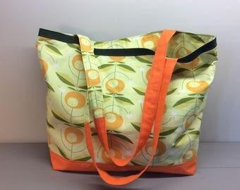 Beach bag in organic cotton.