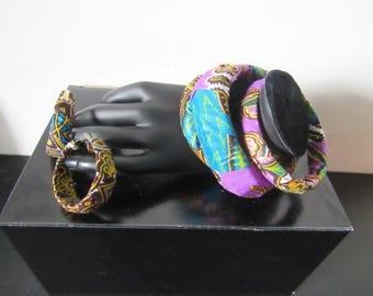 Set bracelet and earrings made of wax