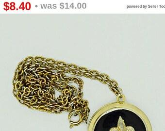 Vintage Necklace Fleur De Lis Locket Top to Bottom Locket Fashion Jewelry