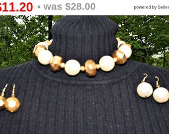 Vintage Necklace, Vintage Jewelry, Anne Klein, Designer Jewelry, Anne Klein Earrings, Fashion Jewelry, Bead Necklace, Chunky Necklace