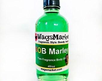 Bob Marley, 1oz Glass Bottle, Pure Fragrance Oil