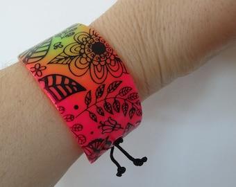 fimo polymer clay multicolor spring bracelet