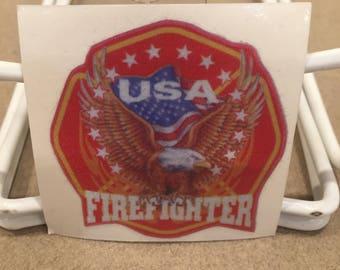 USA Firefighter Die Cut Decal
