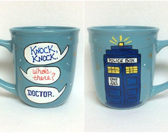Doctor Who? ~ Hand Painted Mug  *Gifts under 20*