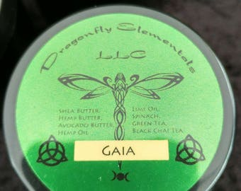 Gaia made with natural plant butters, green tea, chai tea and essential oils