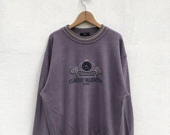 20% OFF Vintage Claudio Valentino Paris Sweatshirt/Claudio Valentino Sweater