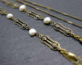 art deco long necklace necklace