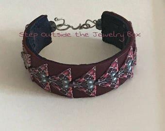Polymer Clay Wearable Art Wirework Bracelet