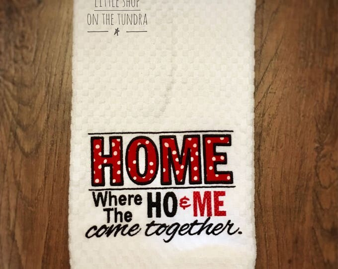 Home Embroidered Towel - Made in Alaska
