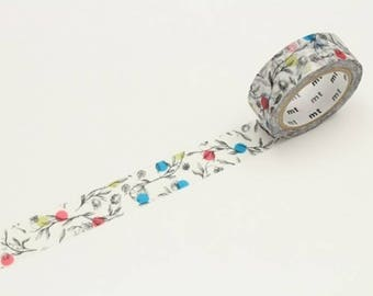 mt online limited edition No. 6  washi tape Floral Pattern Dot