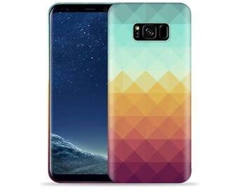 For Samsung Galaxy S8 Case / Galaxy SM-G950 Case #Pixel Waves Design Hard Phone Case