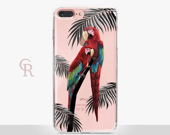 Parrot Clear Phone Case For iPhone 8 iPhone 8 Plus iPhone X Phone 7 Plus iPhone 6 iPhone 6S  iPhone SE Samsung S8 iPhone 5 Transparent