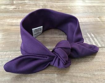 Dark Purple Top Knot Headband, Baby Headband, Adult Headband, Violet, Mommy and Me, Baby Girl, Baby Shower Gift