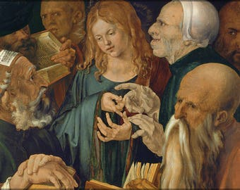 Poster, Many Sizes Available; Jesus Among The Doctors By Albrecht Durer