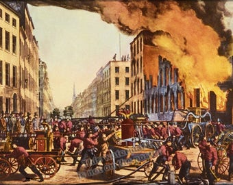 Poster, Many Sizes Available; Life Of A Fireman Currier And Ives