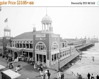 20% Off Sale - Poster, Many Sizes Available; Steel Pier At Atlantic City New Jersey C1915