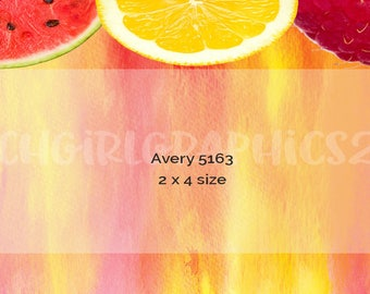 Fruit Labels- 2 sizes - 11.99 DIGITAL