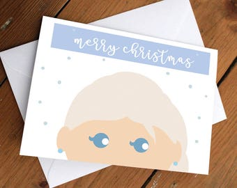 ELSA PRINCESS- xmas edition //christmas, holidays, festive, frozen, disney, blue, cute, greeting cards