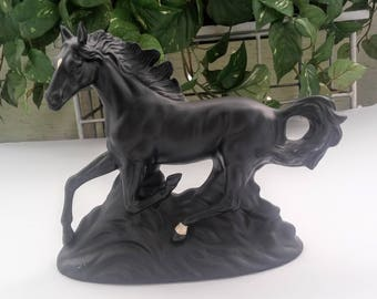 Horse Statue - Horse Sculpture - Horse Lover Gift - Black Horse - Collectible Horse - Wild Horse - Western Decor - Animal Figurine