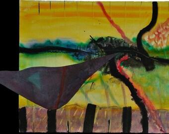 METAPHORE 35 - 1984 - PAINTING, Acrylic on paper