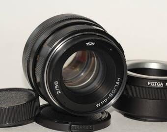 Helios-44m 58mm f./ 2 Helios 44m M42 Lens + Sony E NEX (for E-mount cameras)