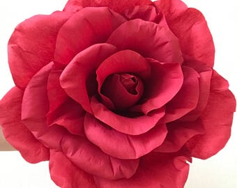 Paper Wedding Bouquet Red, Paper Bridal Bouquet, Paper Bouquet, Paper Flower Bouquet, Giant Rose, Giant Flower, Giant Red Rose