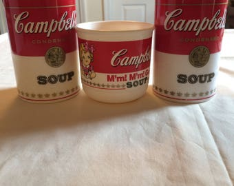 Vintage Campbell's Soup can-trainer 1998 and 1992 collections