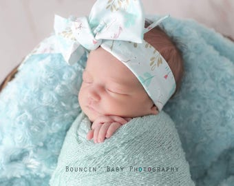 UNICORN FLORAL Gorgeous Wrap- headwrap; fabric head wrap; floral head wrap; boho; newborn headband; baby headband; toddler headband