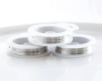 20 gauge wire etsy 24331 silver plated wire 20 gauge light silver wire 08mm non tarnish wire copper wire greentooth Images