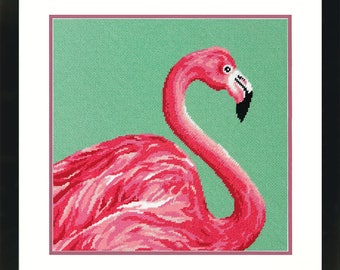 Dimensions Pink Flamingo Needlepoing Kit