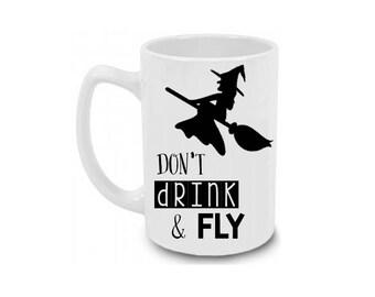 Don't drink and fly Halloween Coffee Mug