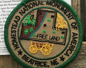 Homestead National Monument of American, Beatrice, Nebraska Vintage Souvenir Travel Patch
