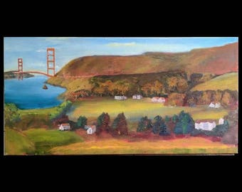 Fort Baker, Sausilito, original oil painting, museum wrap.