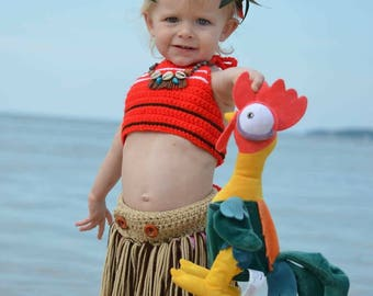 Moana Costume Set • Top • Skirt • Beach • Disney • Dress-up  • Photo Prop • Pool • Hula • Accessories Also Available • Made To Order