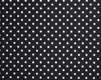Sevenberries Black with White Dot Canvas Cotton/Flax