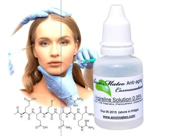 100% Acetyl hexapeptide-3 (Argireline) Anti-aging wrinkle peptide solution - ADD to your OWN cream - Botox-like effect