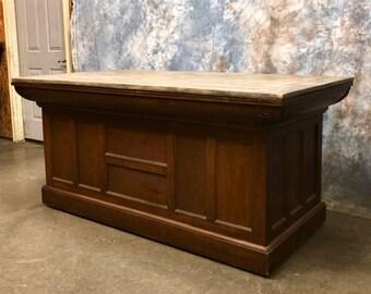 5 u002710   wood store counter kitchen island pantry front back bar showcase vintage kitchen islands   etsy  rh   etsy com