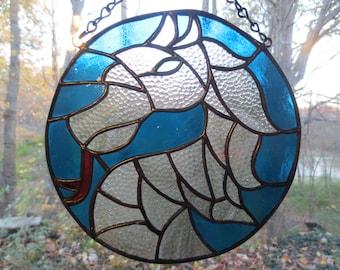 Dragon Fantasy Stained Glass Suncatcher