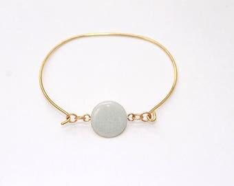 Gaia frosted gray enamel Bangle Bracelet