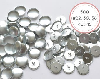 Bulk 500 Metal Self cover buttons 2 parts sizes #22 #30 #36 #40 #45 eye-back covered buttons Tufting Sewing Upholstery