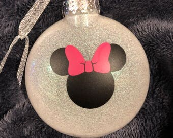 Minnie or Mickey Ornament