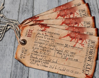 Items Similar To Antique Toe Tag Morgue Halloween