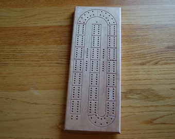 Hand made hardwood 'fancy' cribbage board