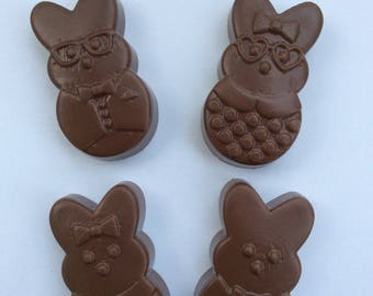 100 Chocolate bunnies