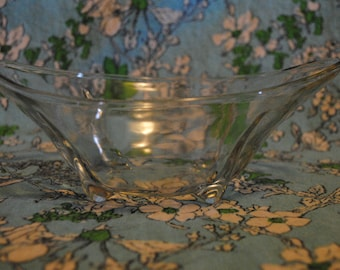 Glass bowl with side spouts on little feet